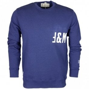 F071AN Cotton Round Neck Navy Fleece