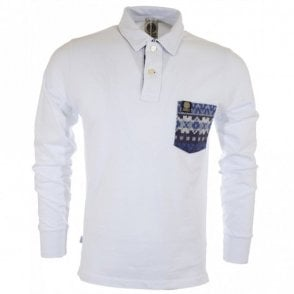 Full Sleeve Piquet Slim Fit White Polo