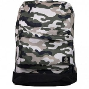 Green Mulit-Coloured Camoflauge Reversible Backpack