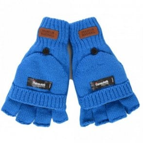 Half Finger Mitten Blue Gloves