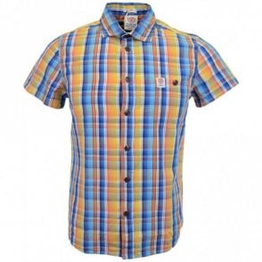 Hollywood Short Sleeve Sunset Check Multi Colour Shirt