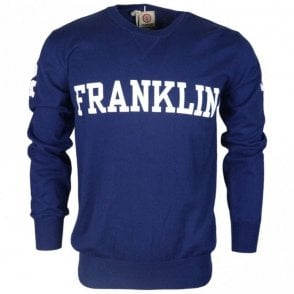 MF122 Cotton Round Neck Franklin Logo Navy Jumper