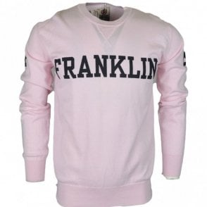 MF122 Cotton Round Neck Printed Franklin Logo Pink Jumper