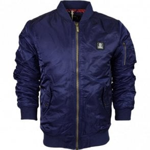 MF131 Nylon Zip Bomber Navy Jacket