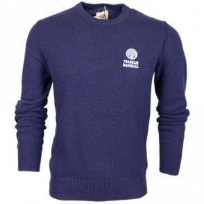 MF150 Wool Round Neck Navy Jumper