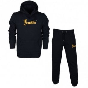 MF304 Hooded Neck Tuta Fleece Black Tracksuit
