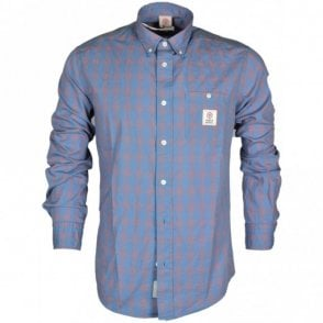 MF305 Van Check Sunset Blue Shirt