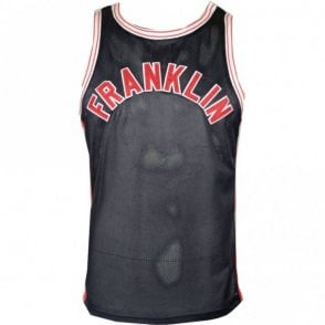 MF390 Polyester Embroidered Logo Black Tank Top