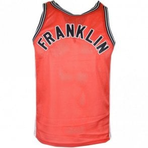 MF390 Polyester Embroidered Logo Fire Red Tank Top