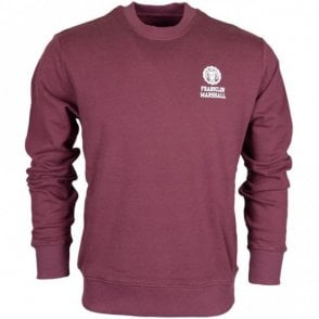 MF433 Round Neck Plain Vintage Port Sweatshirt