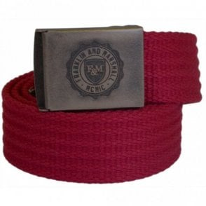 One Size Plain Bordeaux Webbing Belt