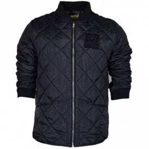 VA030 Polyester Padded Quilted Black Jacket