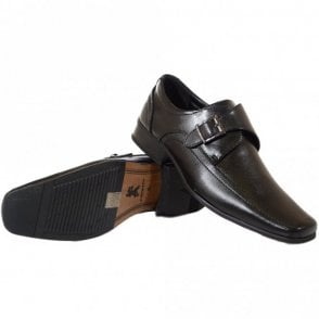 Thatcham Black Leather Slip On Shoe