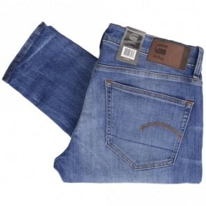 3301 Elto Superstretch Deconstructed Medium Indigo Aged Skinny Jeans