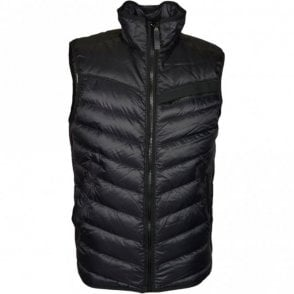 Attacc Down Naval Black Nylon Body Warmer