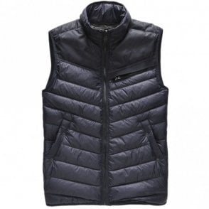 Attacc Down Naval Blue Nylon Body Warmer