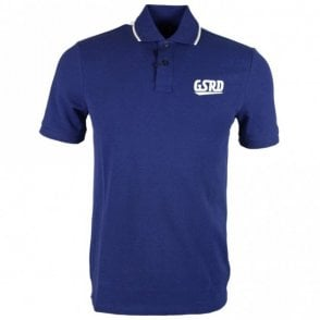 Buckston Art Premium Stretch Blue Polo Shirt