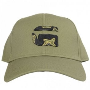 Camo Embroidered Logo Khaki Baseball Cap