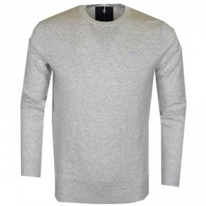 Core Slub Melange Grey Cotton Jumper