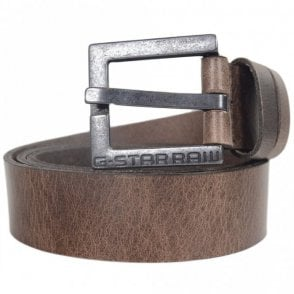 Duko Cuba Leather Brown/Black Metal Belt
