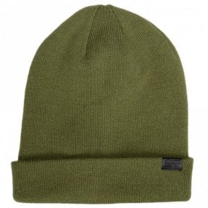 Effo Acrylic Long Sage Green Beanie Hat