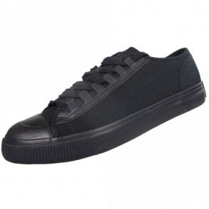 Lace Up Canvas Black Trainers