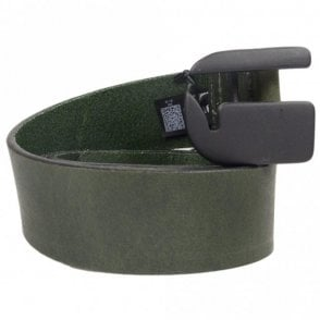 Rikku Logo Pin Creta Leather Green Belt