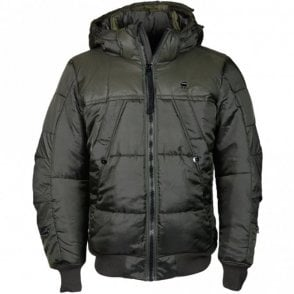 Whistler Hooded Asfalt Green Bomber Jacket
