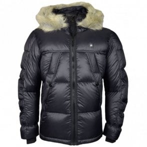 Whistler Hooded Fur Down Black Jacket