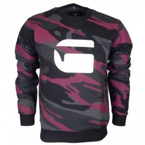 Zeable Sherland Industrial Tope/Violet Camo Print Sweatshirt