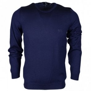 50373739 Botto-L Round Neck Wool Navy Knitwear