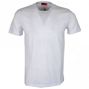 50378595 Dero Cotton Round Neck White T-Shirt