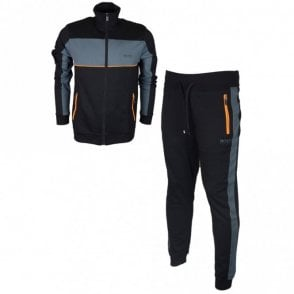50381939 50381940 Regular Fit Funnel Neck Black Tracksuit