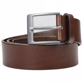 C-Giole Brown Leather Belt