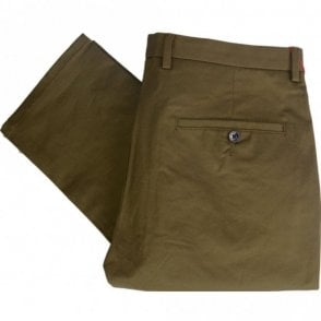 Helgo 1 Slim Fit Green Khaki Trouser