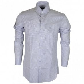 Jason Regular Fit Diamond Print White Shirt