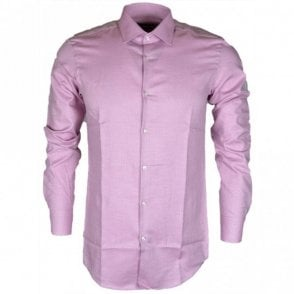 Jenno Slim Fit Patterned Rose Shirt