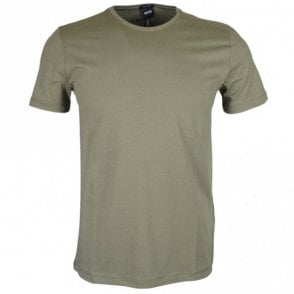 Lecco Cotton Round Neck Regular Fit Green T-Shirt