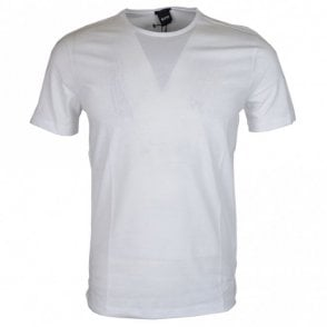 Lecco Cotton Round Neck Regular Fit White T-Shirt