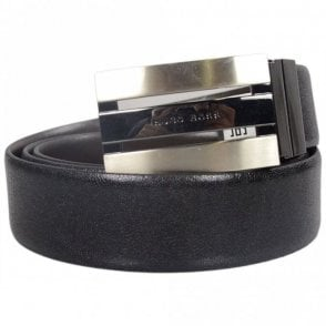 Oseo Black Leather Belt