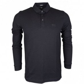 Pado 10 Pima Cotton Regular Fit Long Sleeve Black Polo