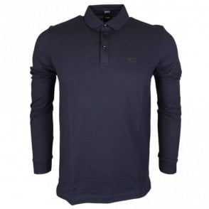 Pado 10 Pima Cotton Regular Fit Long Sleeve Navy Polo