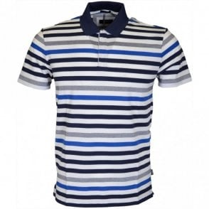 Pallas Regular Fit Stripe White/Navy Polo