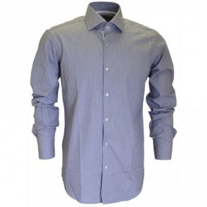 Thin Stripe Gregory Regular Fit East Iron Grey Shirt