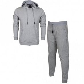Cotton Slim Fit Thin Hooded Grey Tracksuit