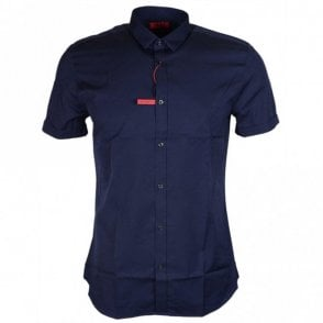 Empson Extra Slim Fit Navy Shirt