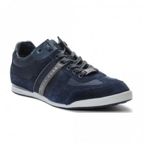 Akeen Suede Blue Trainer