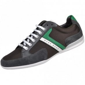 Green Spacit Fabric Grey/Green Trainer