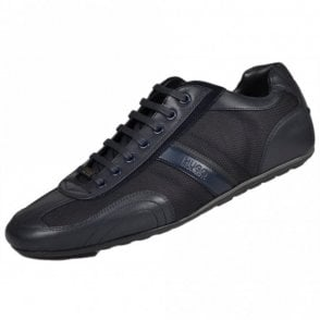Thatoz Fabric/Leather Navy Trainer