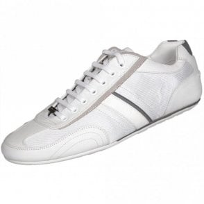 Thatoz Fabric/Leather White Trainer